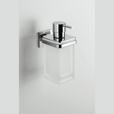 BASIC Q GLAS-SEIFENSPENDER MIT WANDMONTAGE COLOMBO ACCESSORI BAGNO
