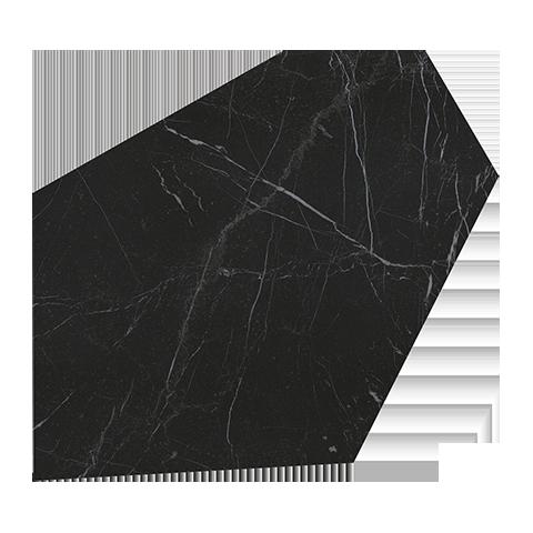 ROMA DIAMOND CALEIDO NERO REALE GLANZ 37X52 GESCHLIFFEN FAP CERAMICHE