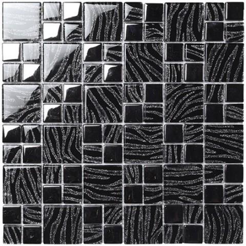 DREAM BLACK SILVER 29.8X29.8 BOXER MOSAICO