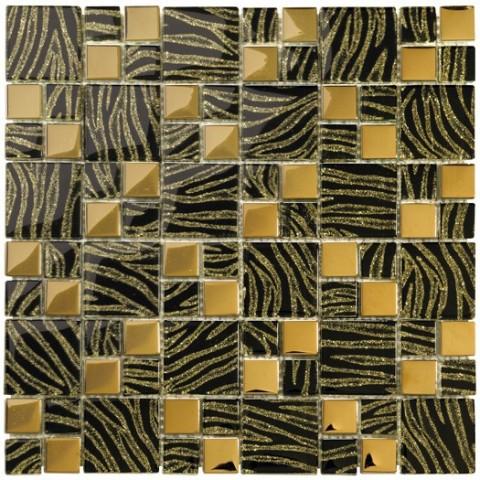 GOLD BLACK 29.8X29.8 BOXER MOSAICO